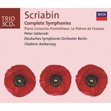 Scriabin:Complete Symphonies-Piano Concerto-Prometheus-Le Poeme de l\'extrase - de Peter Jablonski,Deutsche Symphonie-Orchester Berlin,Vladimir Ashkenazy