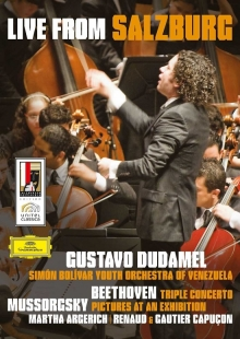 Mussorgsky: Pictures At An Exhibition / Beethoven: Triple Concerto In C, Op.56; Overture - de Simón Bolívar Youth Orchestra Of Venezuela, Gustavo Dudamel, Martha Argerich