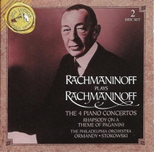 The 4 piano concertos - de Rachmaninoff plays Rachmaninoff