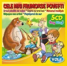 Ursul pacalit de vulpe/Capra cu trei iezi/Motanul incaltat/Ratusca cea urata/Pestisorul de aur - de Cele mai frumoase povesti vol 1