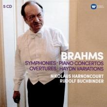 Brahms:Symphonies-Piano Concertos-Overtures-Haydn variations - de Nikolaus Harnoncourt,Rudolf Buchbinder