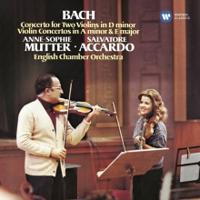 Bach:Concert for two Violins in D minor/Violin Concertos in A minor & E major - de Anne-Sophie Mutter/Salvatore Accardo/English Chamber Orchestra