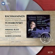 Rachmaninov:Complete Piano Concerto/Rhapsody on a Theme of Paganini-Tchaikovsky:Piano Concerto no.1 - de Mikhail Rudy-St.Petersburg Philharmonic Orchestra-Mariss Jansons