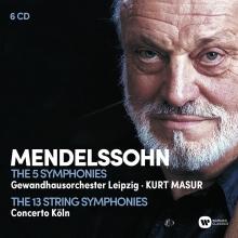 Mendelssohn: The 5 Symphonies-The 13 String Symphonies - de Kurt Masur-Gewandhausorchester Leipzig