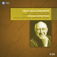 Great Cello Concertos:Bloch-Dvorak-Haydn-Saint-Saens-Schumann-Shostakovich-R.Strauss - de Mstislav Rostropovich-Bernstein-Giulini-Karajan-Rozhdestvensky-Svetlanov