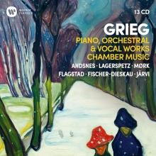 Grieg:Piano,Orchestra & Vocal Works,Chamber Music - de Paavo Berglund,Paavo Jaarvi,Peter Matei,Elisabeth Schwarzkopf,Yehudi Menuhin,Dmitri Kitayenko