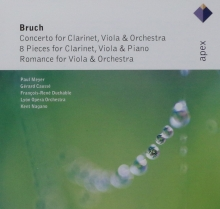 Bruch;Concerto for Clarinet,Viola & Orchestra-8 Pieces for clarinet,Viola Πano,Romance for Viola & Orchestra - de Paul Meyer,Gerard Causse,Lyon Opera Orchestra,Kent Nagano