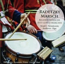 Radetzky Marsch:Strauss-Tschaikowsky-Beethoven-Elgar - de Barenboim-Bernstein-Pretre-Previn-Muti