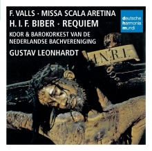 Valls:Missa Scala Aretina,Bieber:Requiem - de Gustav Leonhardt,Koor & Barokorkest van de Nederlandse Bachvereniging