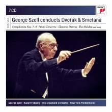 George Szell conducts Dvorak&Smetana - de Symphonies nos.7-9-Piano Concerto-Slavonic Dances-The Moldau etc.