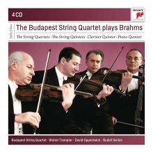 The Budapest String Quartet plays Brahms - de Budapest String Quartet-Walter Trampler-David Oppenheim-Rudolf Serkin