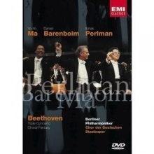 Beethoven Triple concerto and Choral Fantasy - de Barenboim,Yo-Yo Ma , Perlman